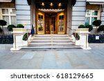 luxury five star hotel entrance ... | Shutterstock . vector #618129665