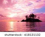 sunset coast sea  | Shutterstock . vector #618131132