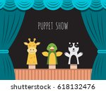 childrens performance in the... | Shutterstock .eps vector #618132476