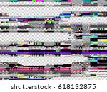 Glitch Texture. Computer Scree...