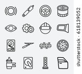 part icon. set of 16 part... | Shutterstock .eps vector #618139052