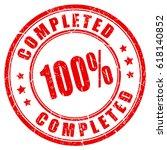 work completed rubber vector... | Shutterstock .eps vector #618140852