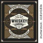 retro logo for whiskey | Shutterstock .eps vector #618141836