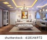 luxurious classic baroque... | Shutterstock . vector #618146972