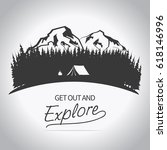 adventure logo. outdoor... | Shutterstock .eps vector #618146996