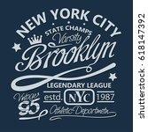 t shirt stamp new york graphic...   Shutterstock .eps vector #618147392