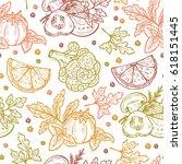 fresh vegetables vector... | Shutterstock .eps vector #618151445