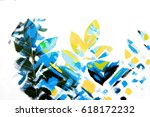 close up of leaves combined... | Shutterstock . vector #618172232