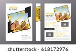 business brochure or flyer... | Shutterstock .eps vector #618172976