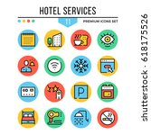 hotel services icons. modern...