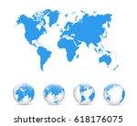 political world map vector... | Shutterstock .eps vector #618176075
