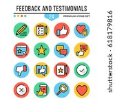 feedback and testimonials icons.... | Shutterstock .eps vector #618179816