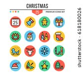 christmas icons. modern thin...