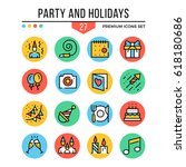 party and holidays icons....