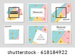 abstract vector layout... | Shutterstock .eps vector #618184922