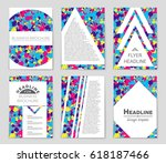 abstract vector layout... | Shutterstock .eps vector #618187466