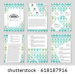 abstract vector layout... | Shutterstock .eps vector #618187916