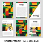 abstract vector layout... | Shutterstock .eps vector #618188168