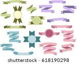 set of light colored vintage...   Shutterstock . vector #618190298