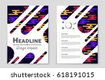 abstract vector layout... | Shutterstock .eps vector #618191015