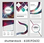 abstract vector layout... | Shutterstock .eps vector #618192632