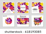 abstract vector layout... | Shutterstock .eps vector #618193085