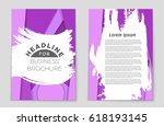 abstract vector layout... | Shutterstock .eps vector #618193145