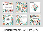 abstract vector layout... | Shutterstock .eps vector #618193622