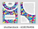 abstract vector layout... | Shutterstock .eps vector #618196406