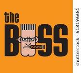 the boss vector design vector... | Shutterstock .eps vector #618196685