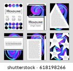 abstract vector layout... | Shutterstock .eps vector #618198266