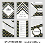 abstract vector layout... | Shutterstock .eps vector #618198572