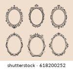 decorative oval vintage frames... | Shutterstock .eps vector #618200252