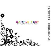 floral abstract banner | Shutterstock .eps vector #61820767