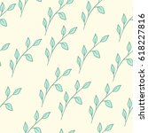 seamless floral pattern with... | Shutterstock .eps vector #618227816
