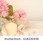 pretty cherry blossoms in a... | Shutterstock . vector #618230438