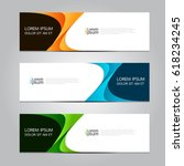 vector design banner background. | Shutterstock .eps vector #618234245