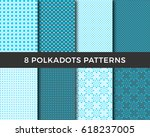 set of background patterns  ... | Shutterstock .eps vector #618237005