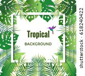 jungle background. tropical...   Shutterstock .eps vector #618240422