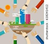 city development people... | Shutterstock .eps vector #618241412
