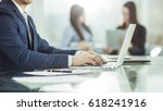successful businessman working... | Shutterstock . vector #618241916