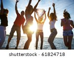 happy young people are ... | Shutterstock . vector #61824718