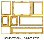 collection golden frame... | Shutterstock . vector #618251945