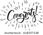 congrats. congratulations card... | Shutterstock .eps vector #618257138