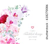 luxury floral crescent shape... | Shutterstock .eps vector #618270086