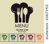 chef hat with mustache. foods... | Shutterstock .eps vector #618271922