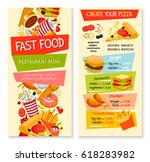 fast food restaurant menu.... | Shutterstock .eps vector #618283982