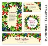 berries set of blueberry  black ... | Shutterstock .eps vector #618284186
