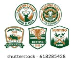 hunting or hunter club badges... | Shutterstock .eps vector #618285428