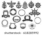 nautical seafarer and marine... | Shutterstock .eps vector #618285992